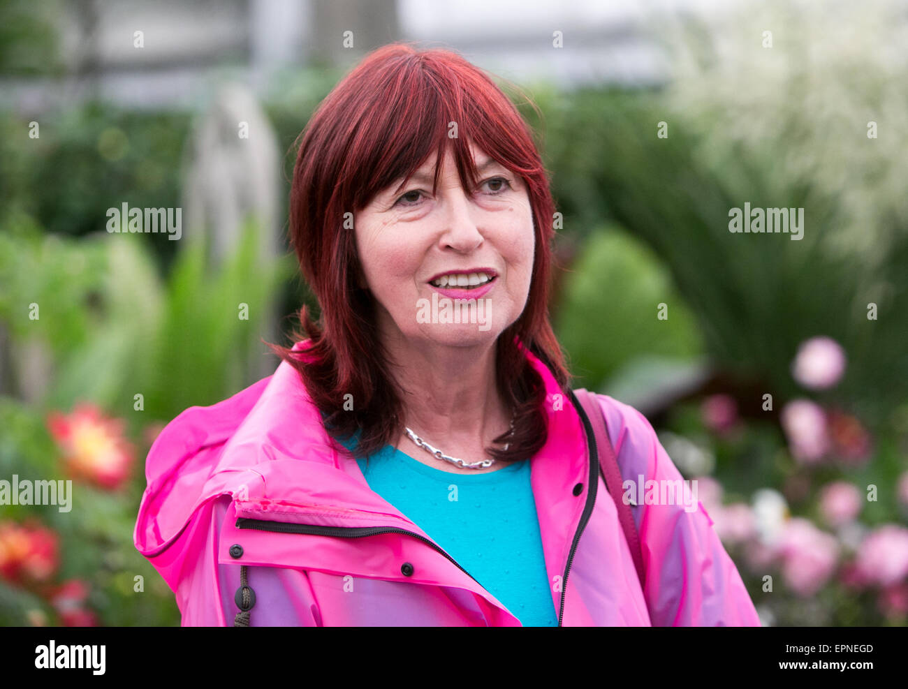 Janet Street-Porter at the RHS Chelsea Flower Show.She is a journalist and reporter and former editor of the Independent - Stock Image