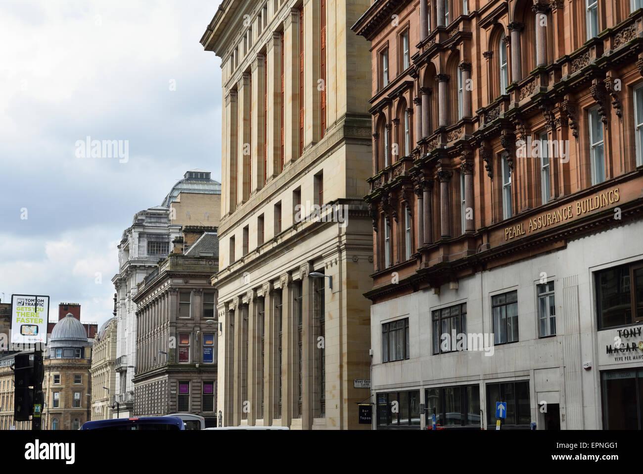 Bank of Scotland Renfield Street downtown Glasgow Scotland UK - Stock Image
