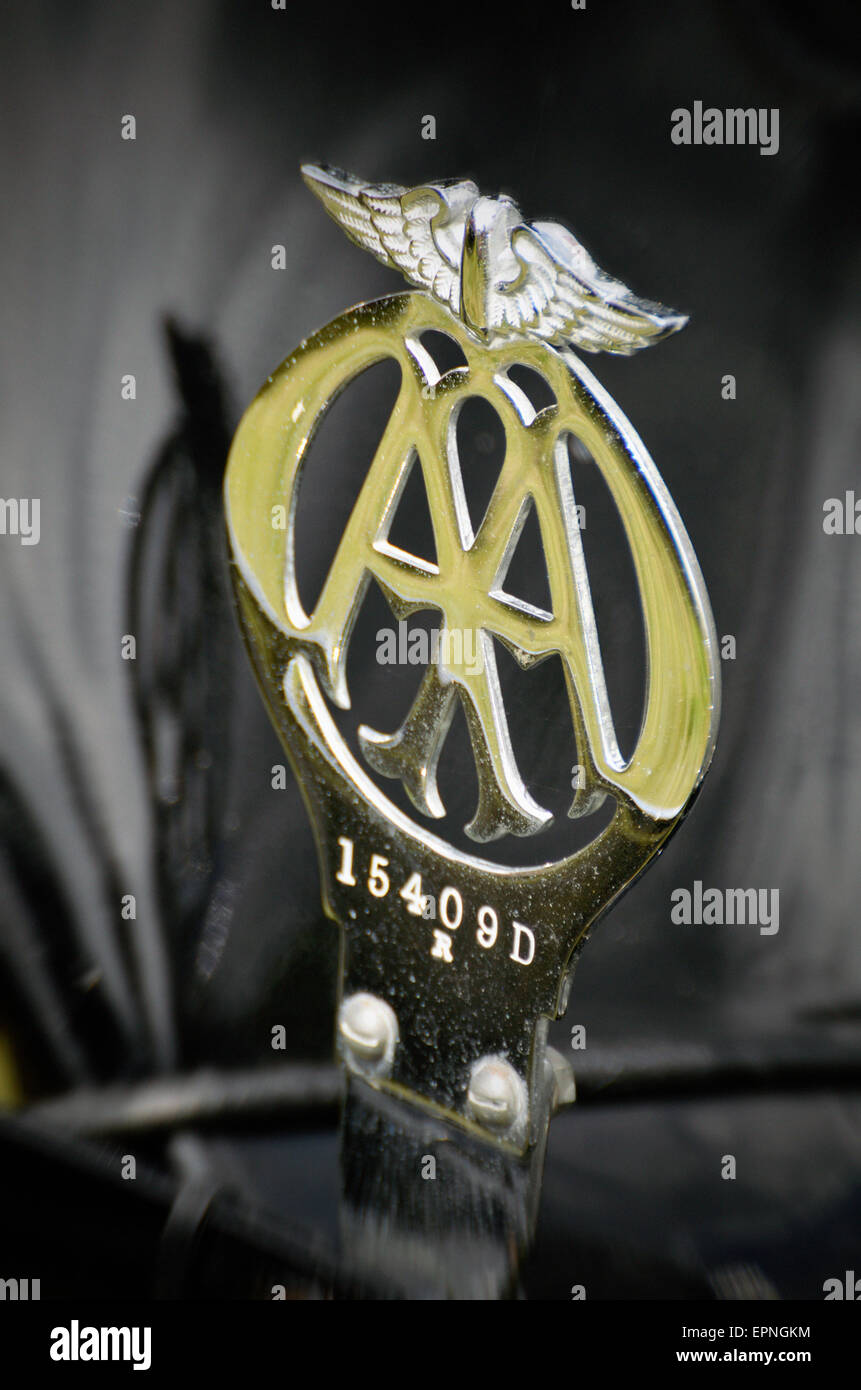 Automobilia Vintage Aa Badge Automotive Club Badges