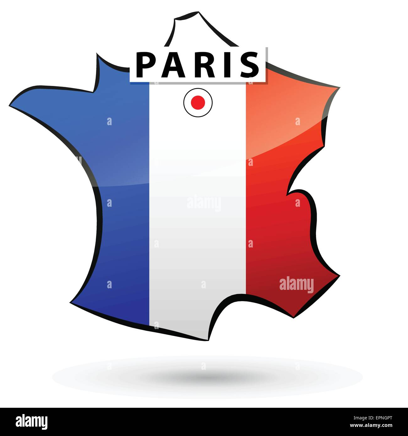 Illustration Of French Map Icon For Paris Stock Vector Art