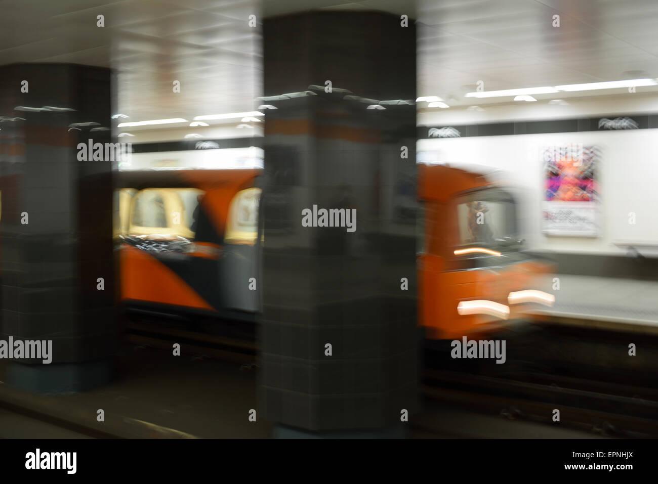 Partick Subway Station Glasgow Scotland UK - Stock Image