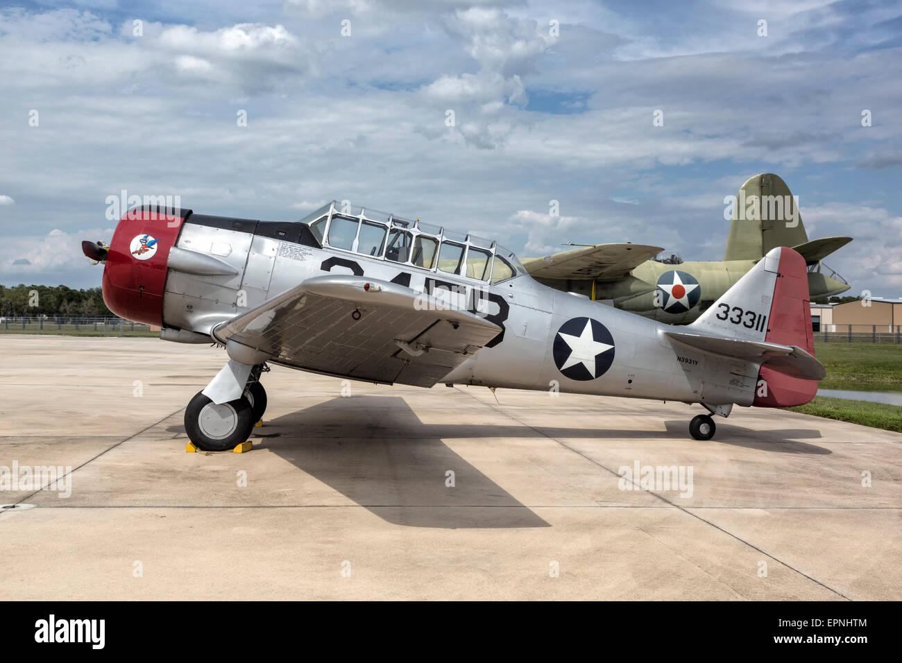 North American AT6 Texan - Stock Image