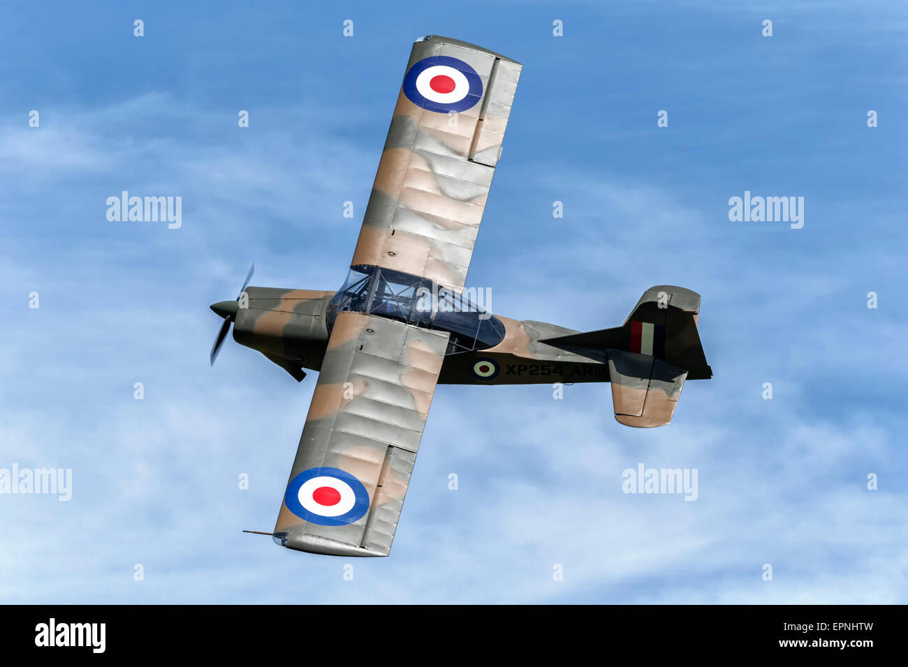 Auster AOP9 spotter aircraft of the British Army - Stock Image