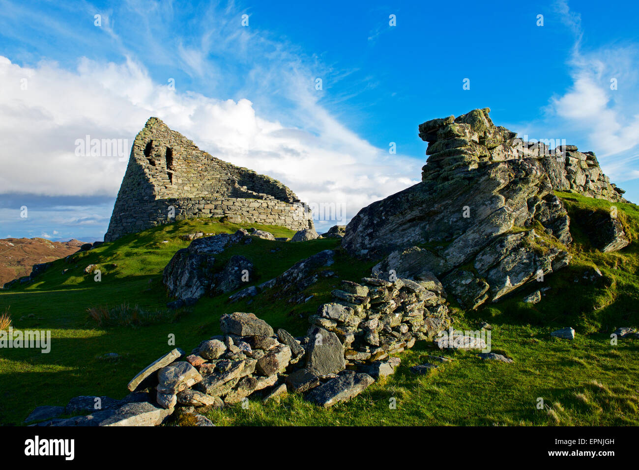 Dun Carloway Broch, Isle of Lewis, Outer Hebrides, Scotland UK - Stock Image
