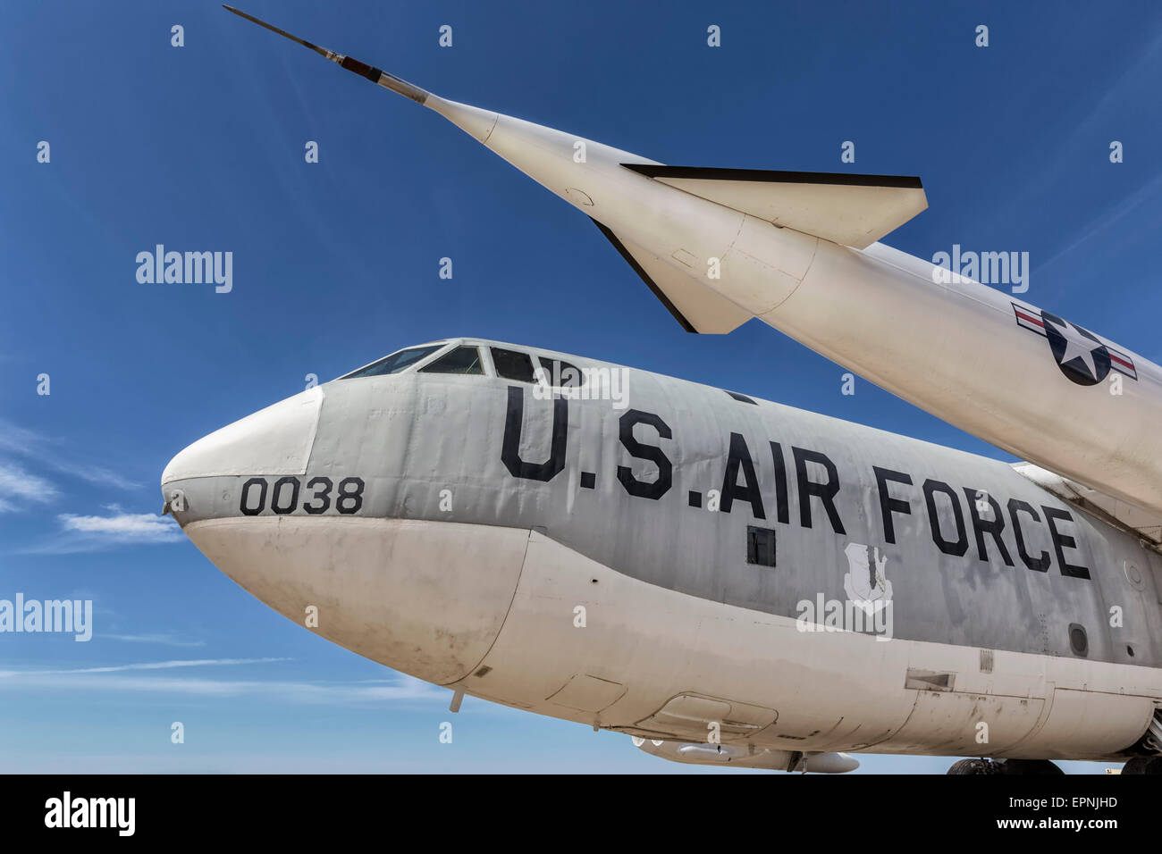 Boeing B52 Stratofortress bomber of the USAF - Stock Image