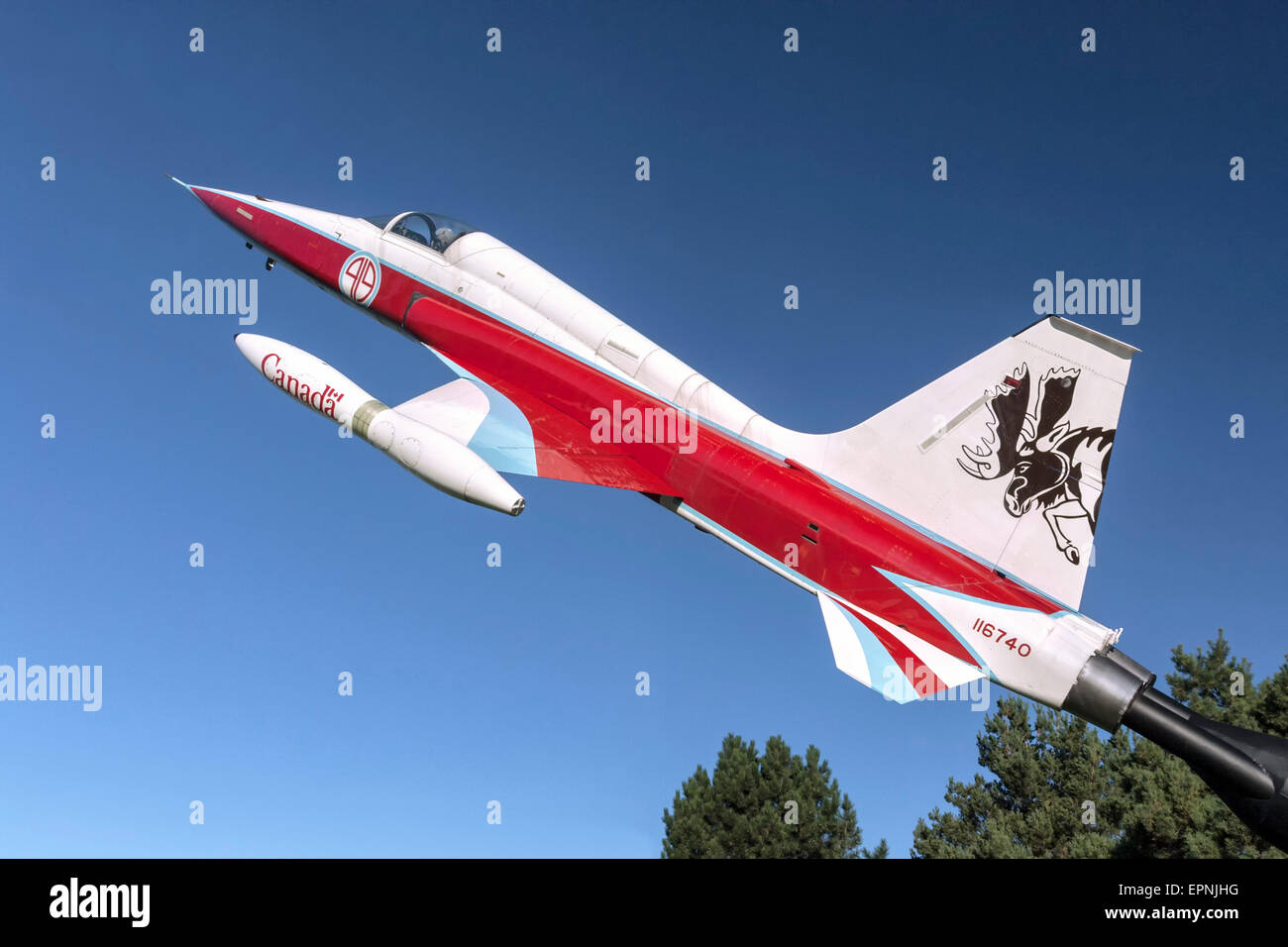 Canadair CF5 fighter of the RCAF - Stock Image