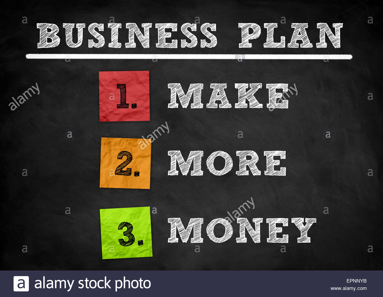 Business Plan - blackboard concept - Stock Image