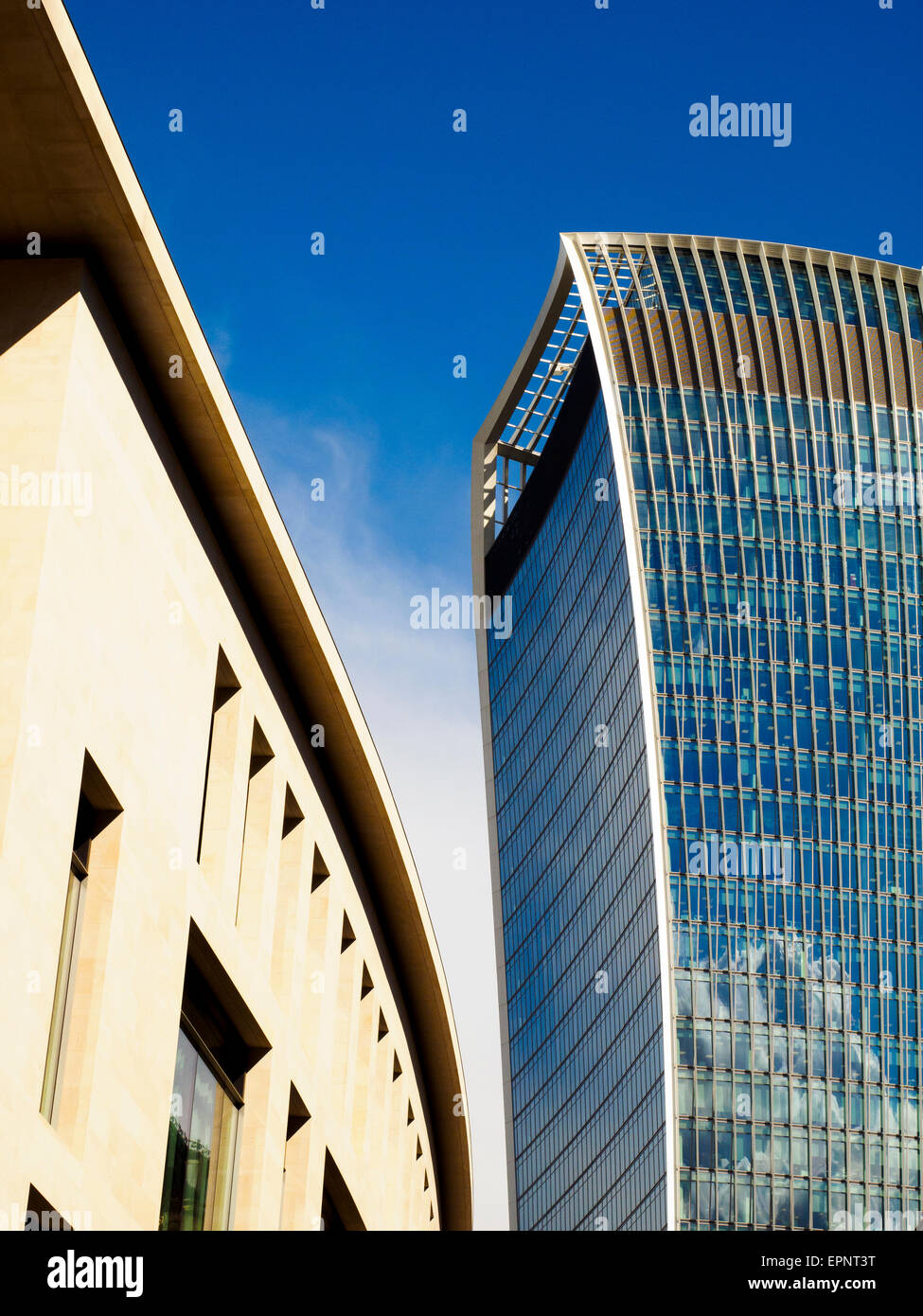 The walkie talkie building in 20 Fenchurch Street - London, England - Stock Image