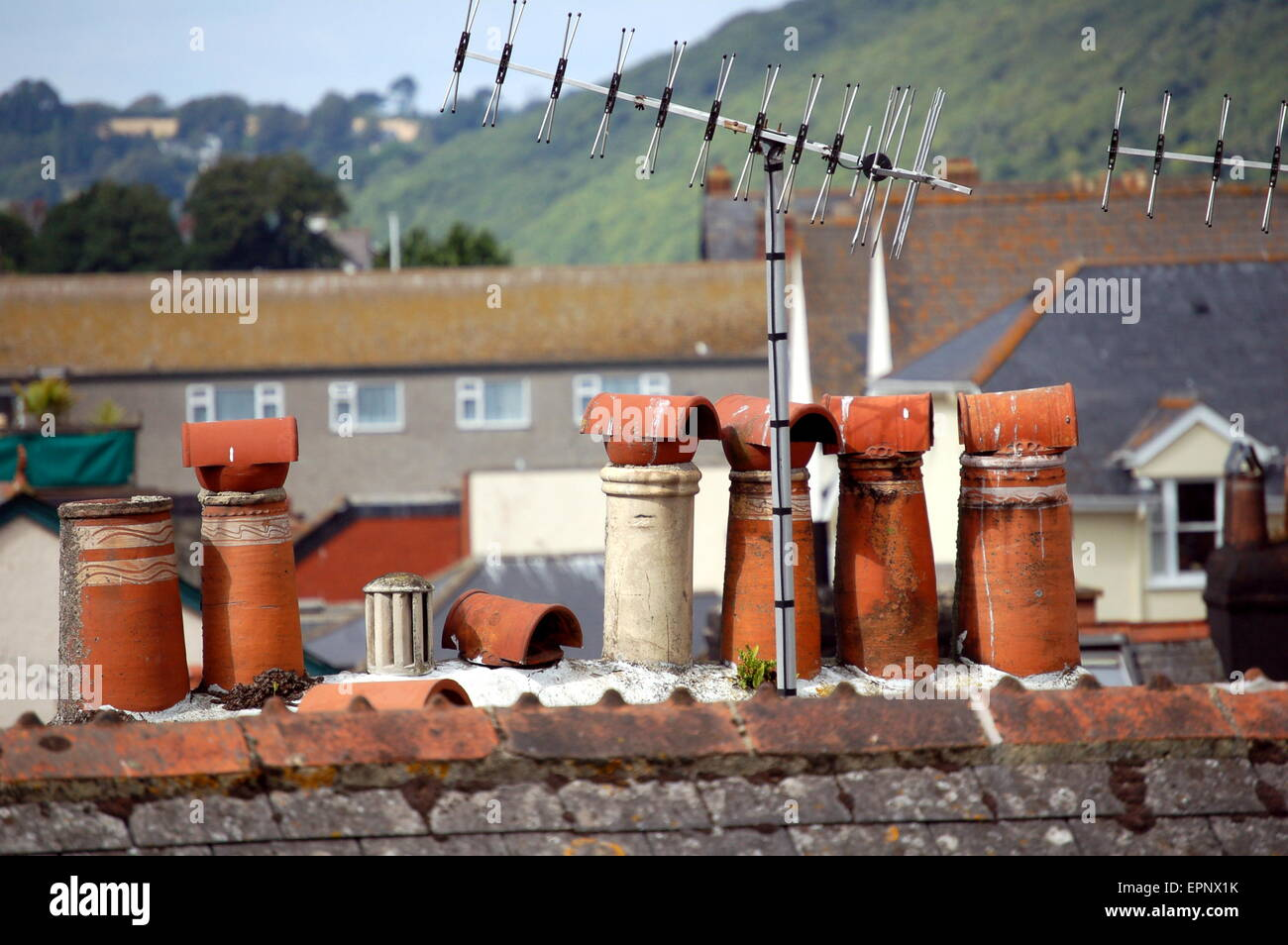 Terracotta Chimney Pots Stock Photos Amp Terracotta Chimney