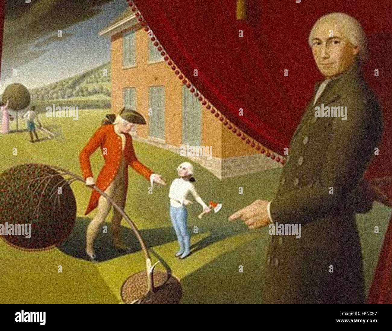 Grant Wood  Parson Weems Fable - Stock Image