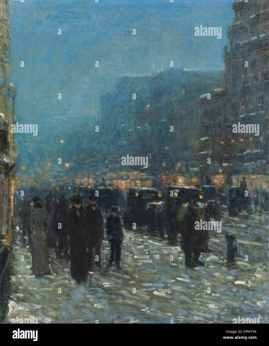 Childe Hassam  Broadway and 42nd Street - Stock Image