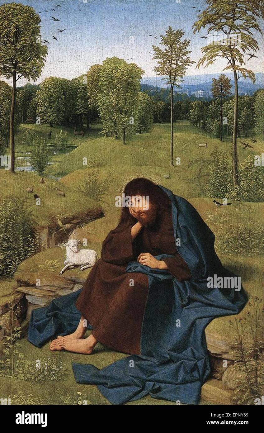 Geertgen tot Sint Jans  John the Baptist in the Wilderness - Stock Image