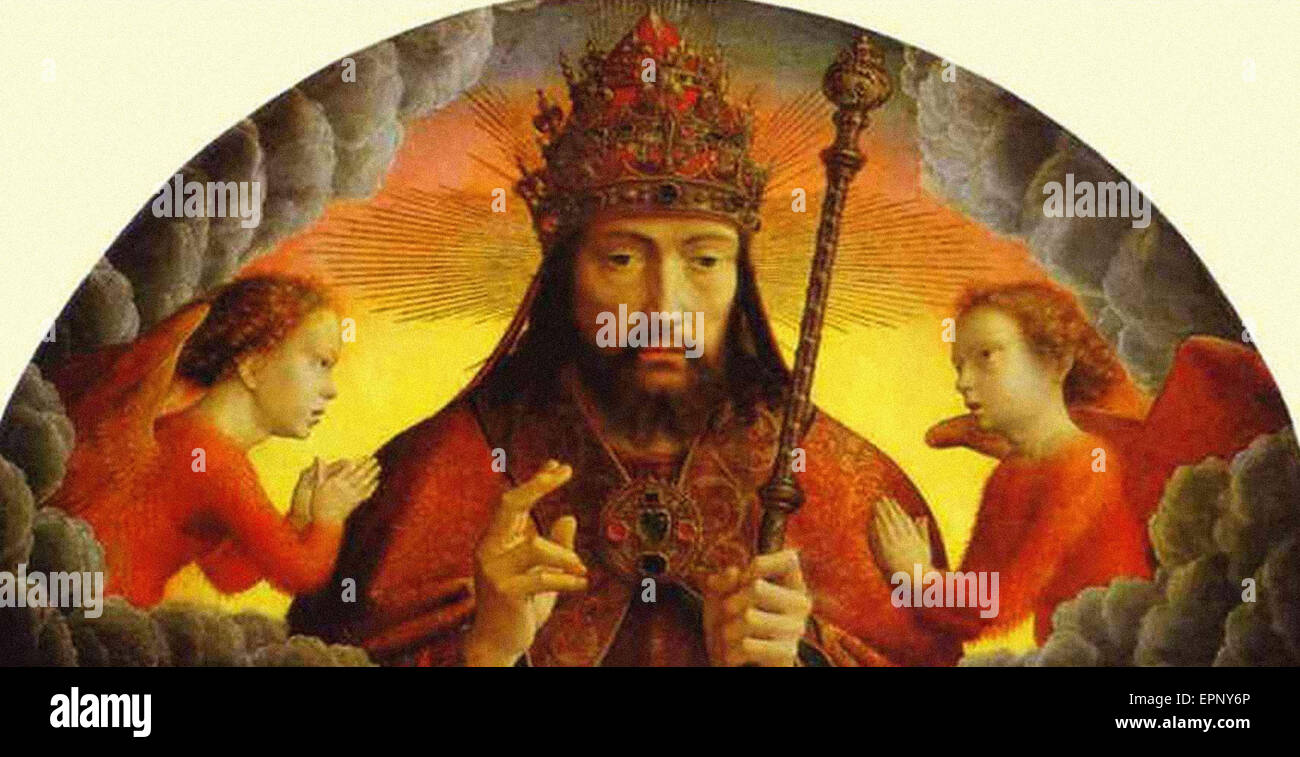 Gerard David  God the Father Blessing - Stock Image