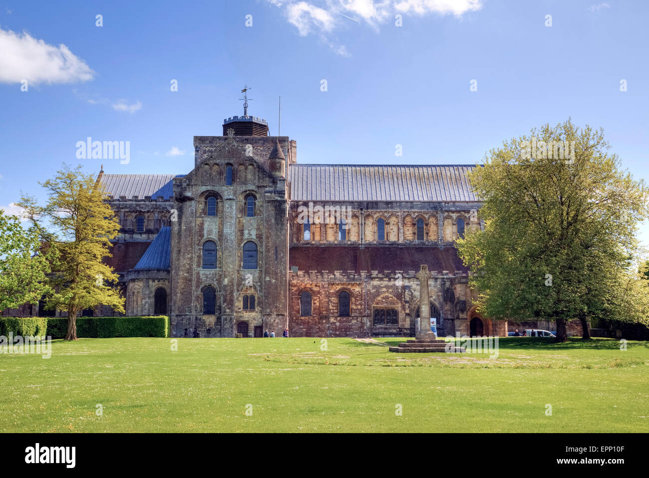 Romsey Abbey, Romsey, Hampshire, England, UK - Stock Image