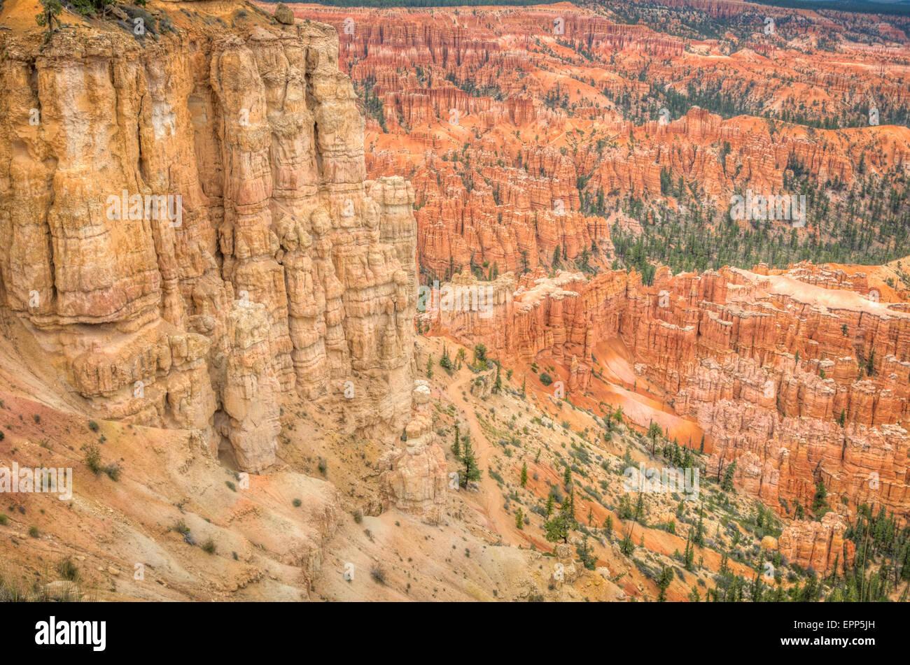 Bryce Canyon amphitheater west USA utah 2013 Stock Photo