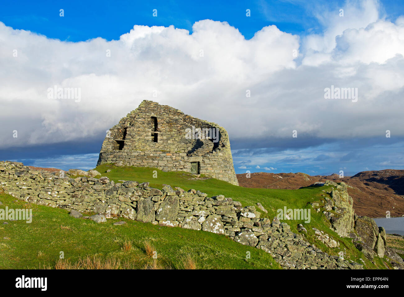 Dun Carloway Broch, Isle of Lewis, Outer Hebrides, Scotland - Stock Image