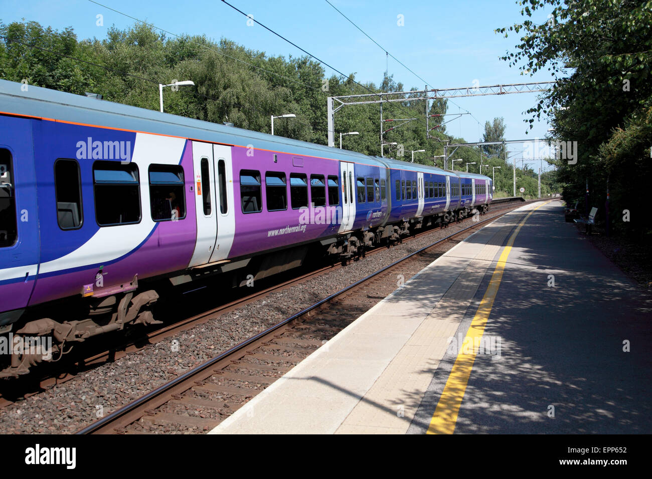 A Northern Rail train at Kidsgrove near Stoke on Trent, Staffordshire - Stock Image