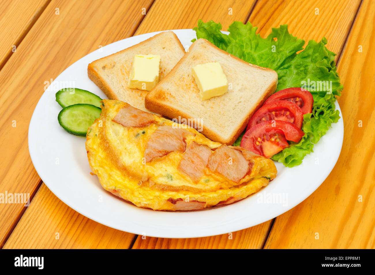 country omelette - Stock Image