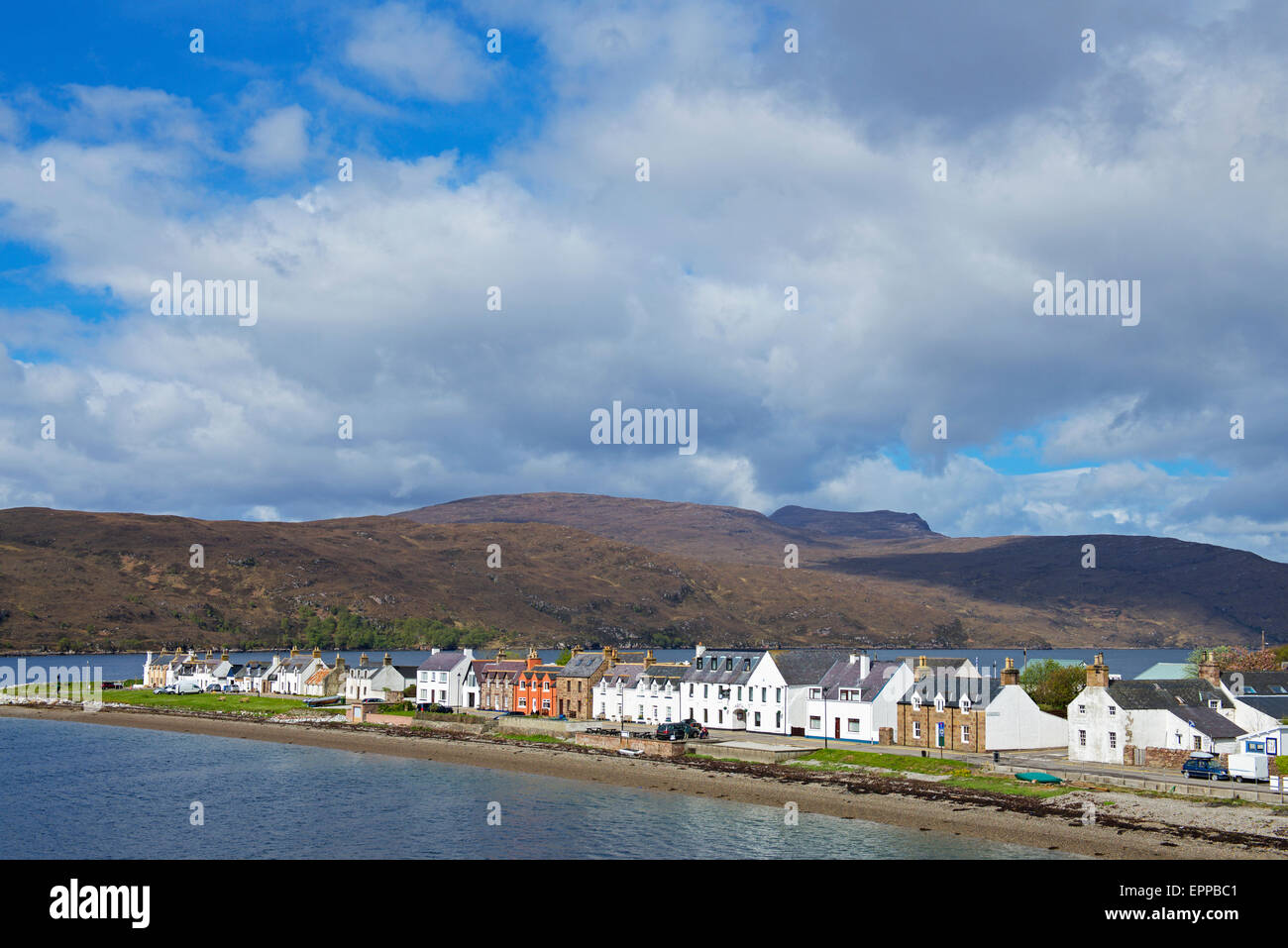 The port of Ullapool, Ross and Cromarty, Scotland UK - Stock Image