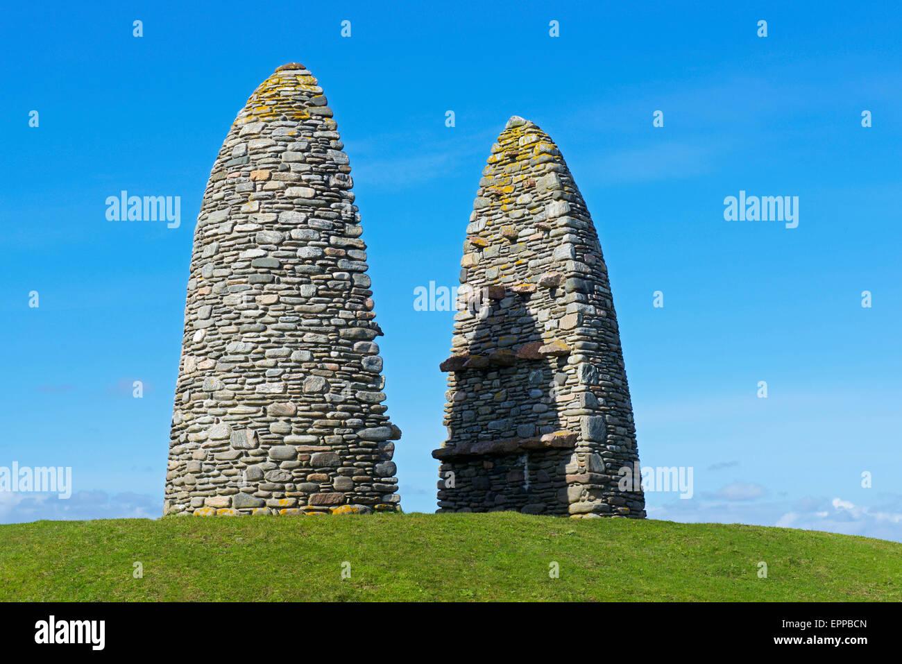 Land Raiders Monument, Aignish, Isle of Lewis, Outer Hebrides, Scotland uk - Stock Image