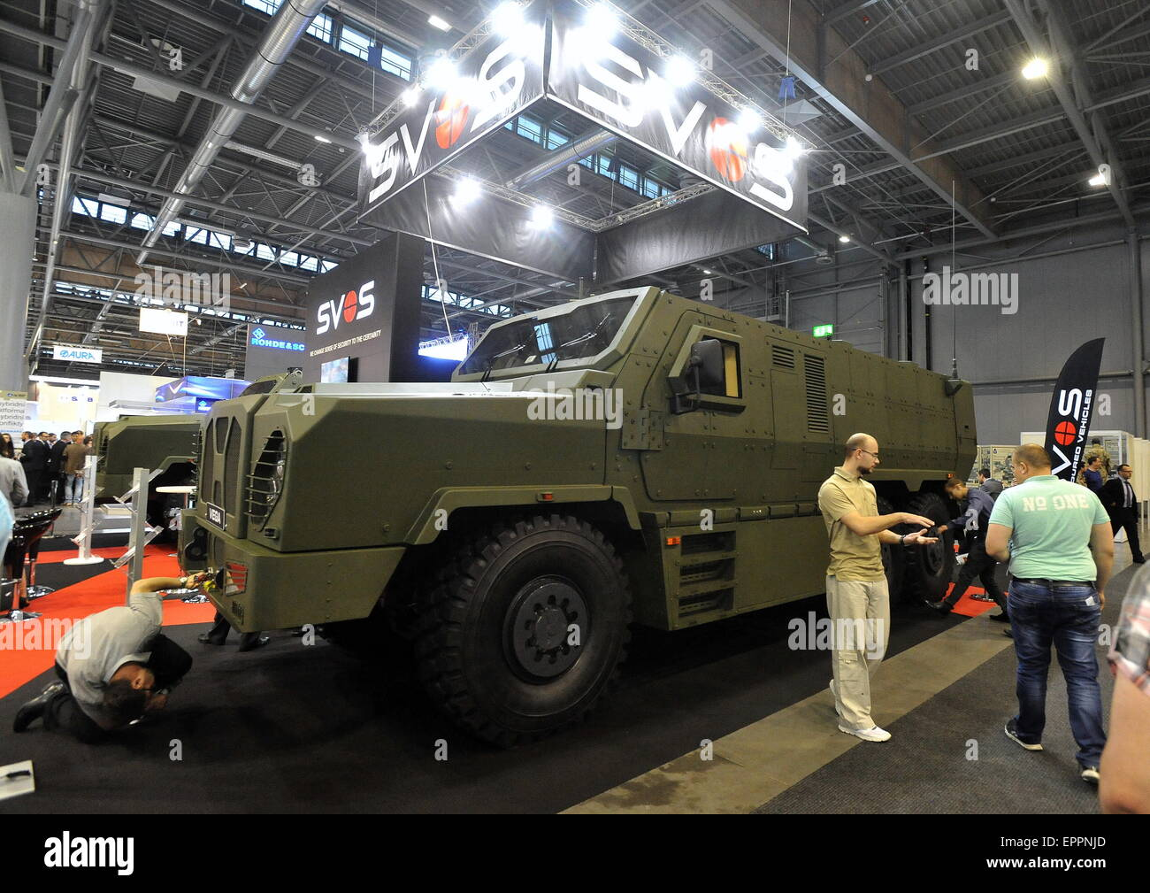 VEGA, Vehicle with Enhanced Ground performance & Armour protection, international trade fair of defence&security - Stock Image