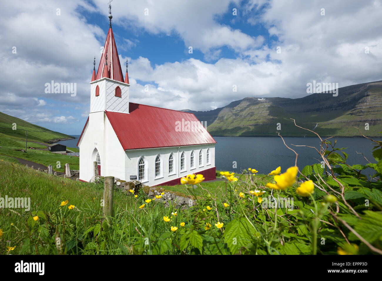Husar, Kalsoy island. Faroe islands - Stock Image
