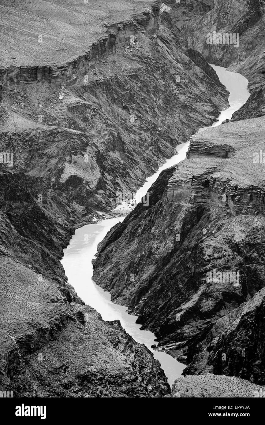 Colorado river in Grand Canyon, AZ Stock Photo