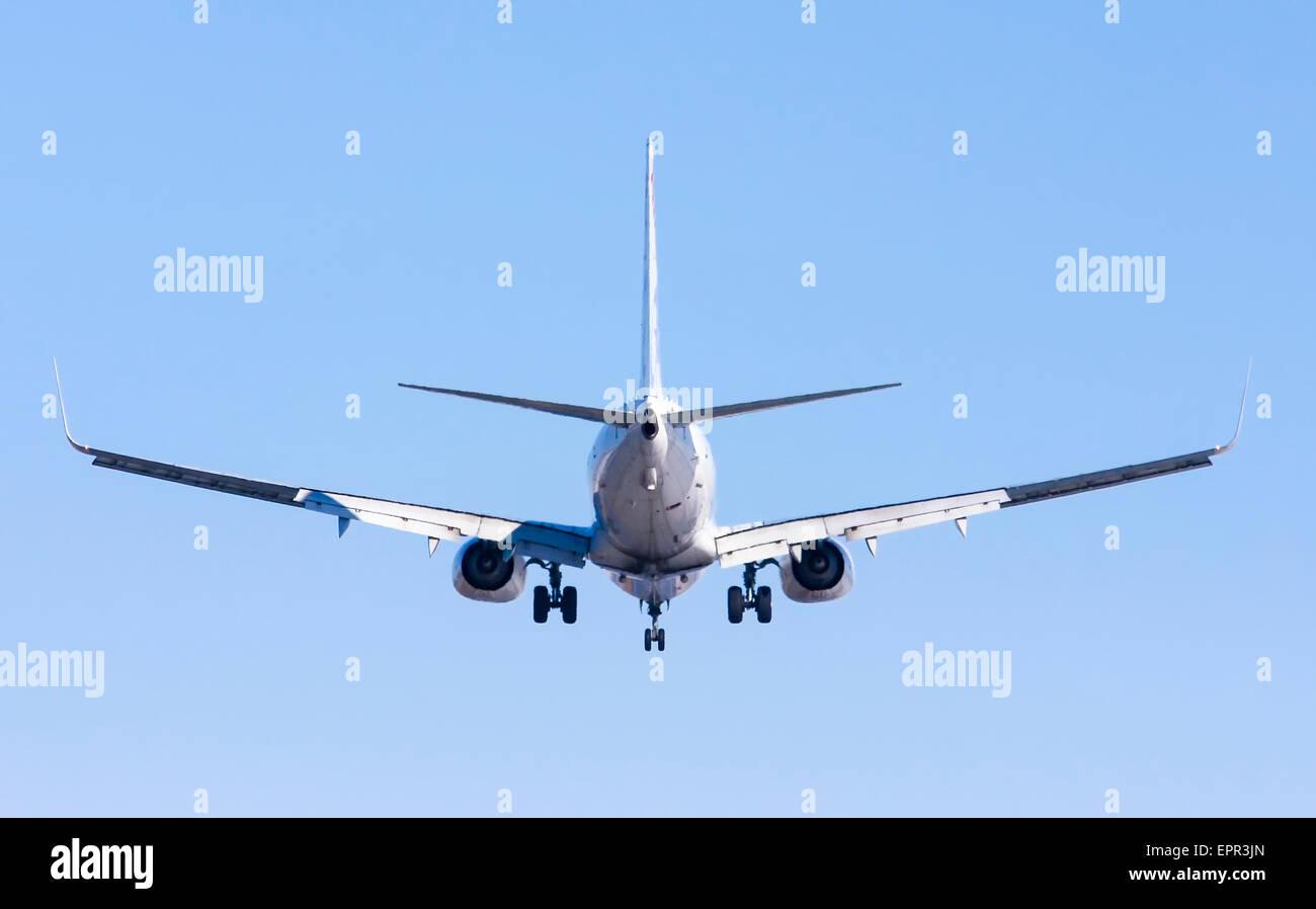 Air Europa, Boeing 737-85P in flight as seen from below - Stock Image