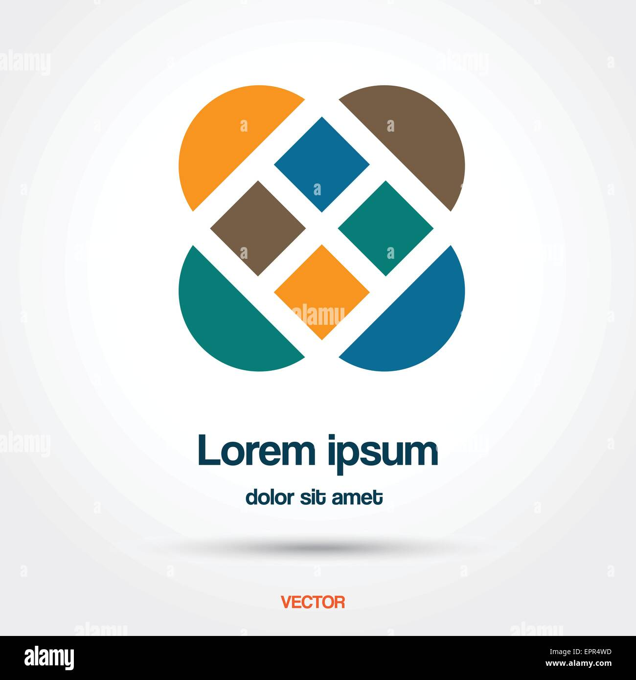 Abstract creative vector illustration logo template - Stock Image