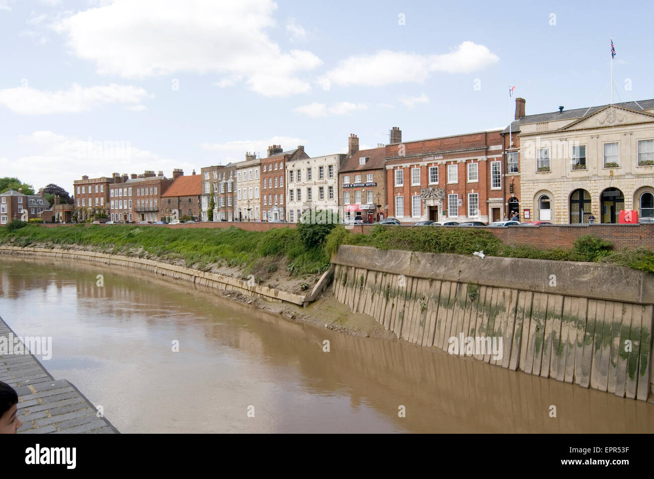 wisbech  Fens of Cambridgeshire England  tidal River Nene uk - Stock Image