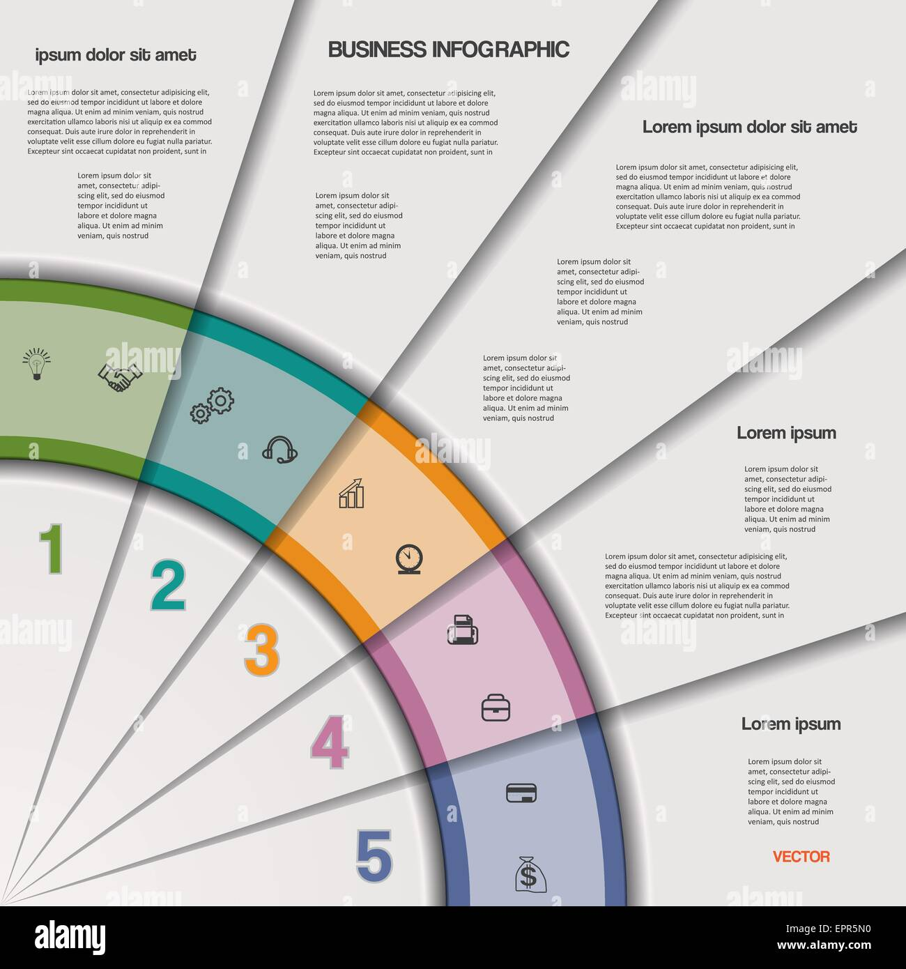 Infographic business process or workflow for project and other your infographic business process or workflow for project and other your variant vector illustration template with text areas on 5 flashek Images