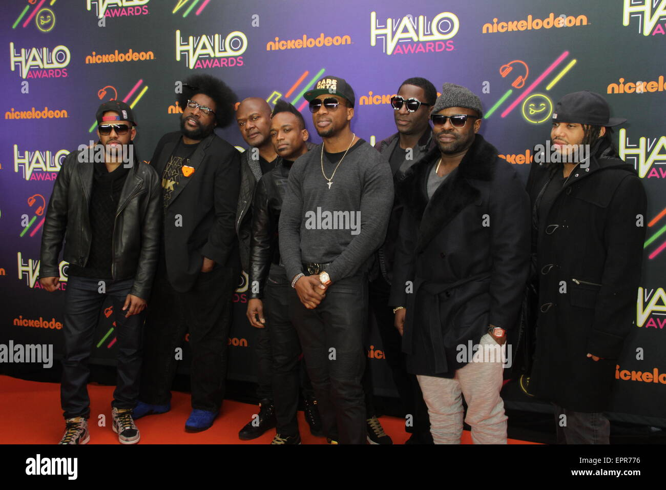 Nickelodeon HALO Awards at Pier 36 in New York City  Featuring: (L-R) Musicians Tuba Gooding Jr.,Questlove,James Stock Photo
