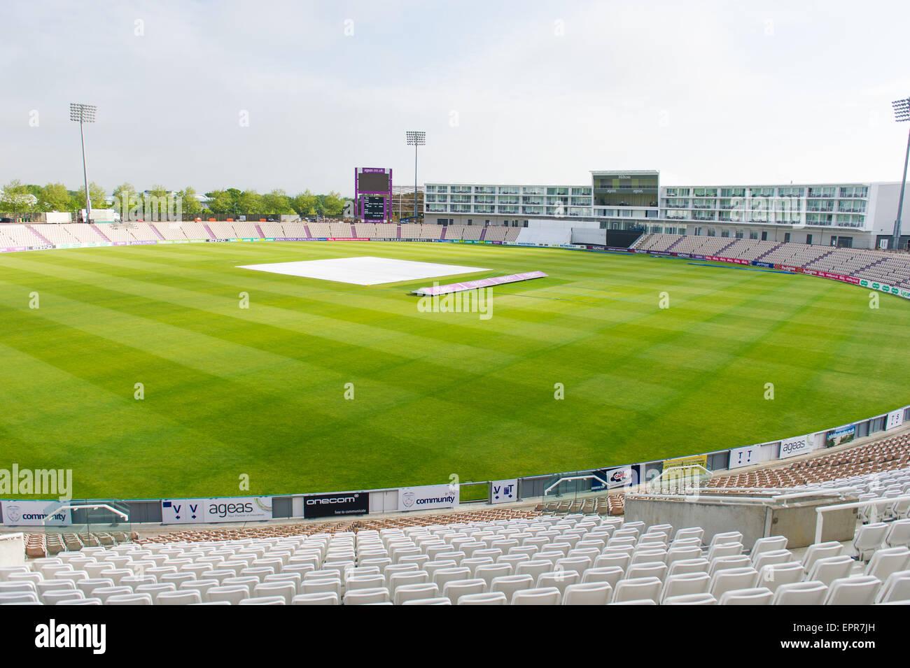 An Empty Ageas Bowl Cricket Ground The Ageas Bowl Formerly