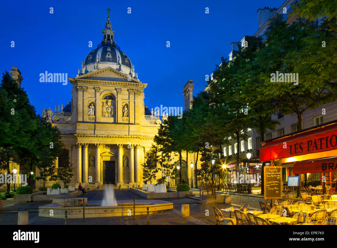 College of Sorbonne, originally a theological school founded in 1253, now a public university, Paris, France Stock Photo