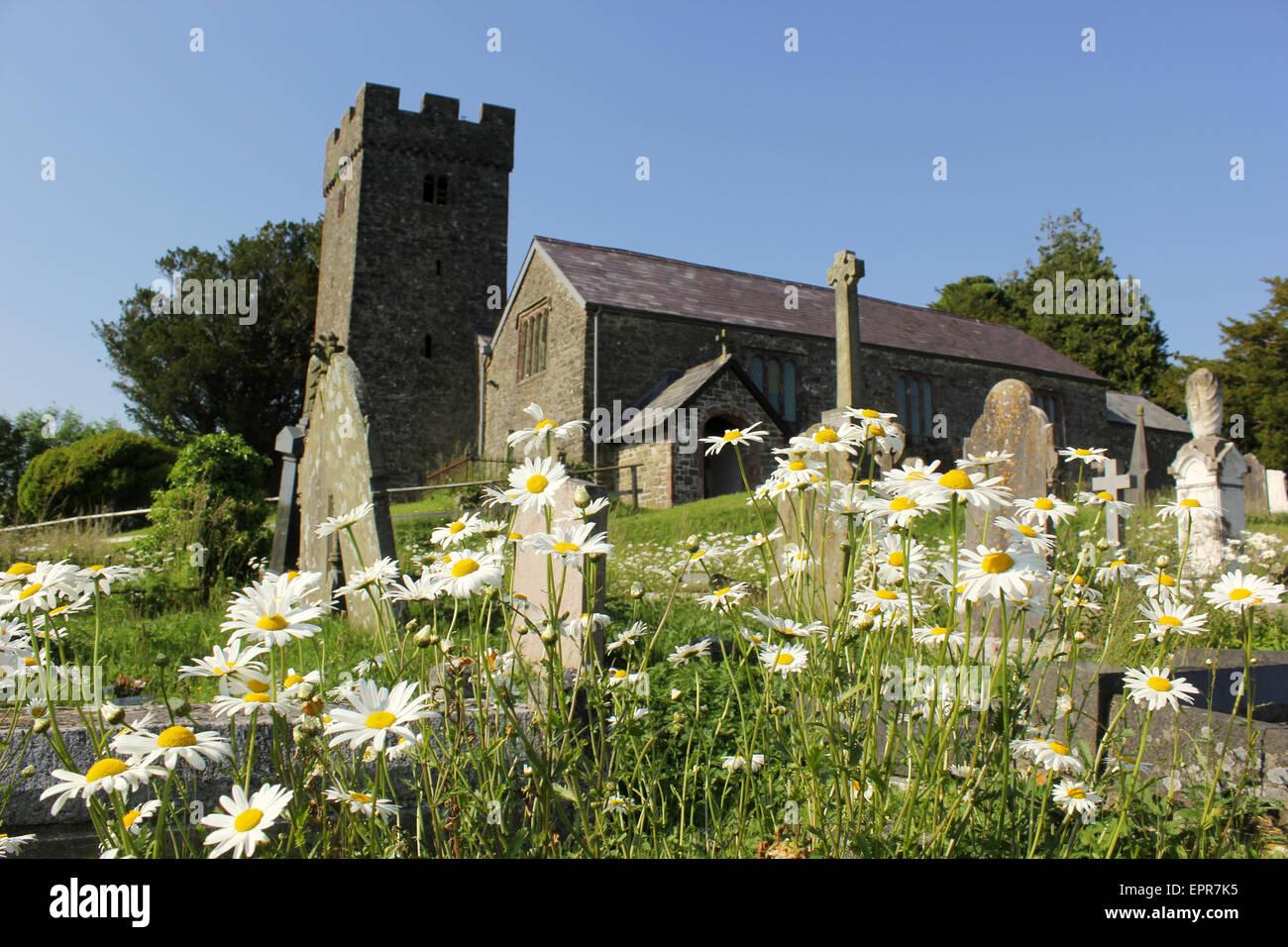Llangathen Church in Carmarthenshire - Stock Image
