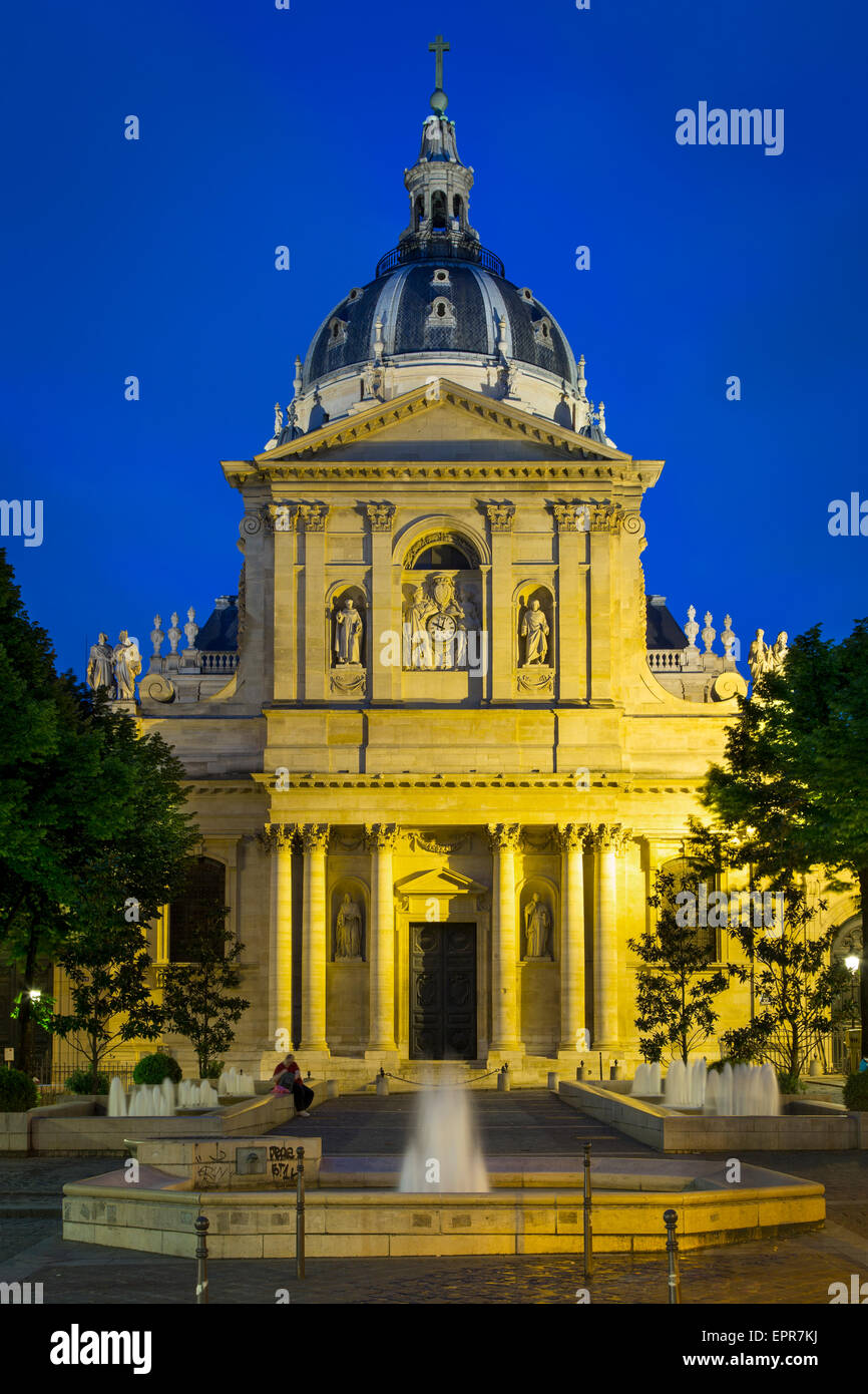 College of Sorbonne, originally a theological school founded in 1253, now a public university, Paris, France - Stock Image