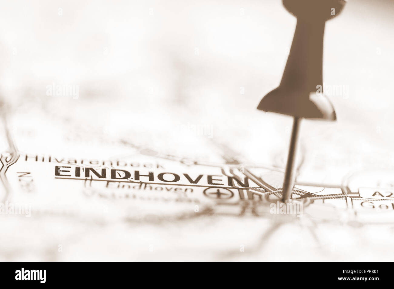 Pushpin showing Eindhoven City On Map, Netherlands with ...
