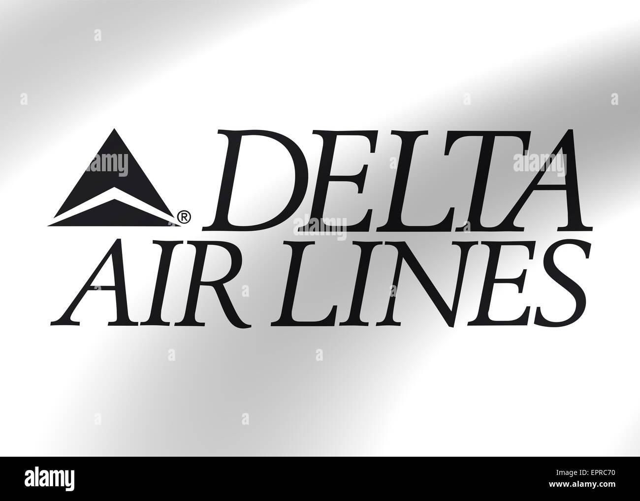 Delta Airlines Logo Icon Flag Symbol Emblem Sign Stock Photo