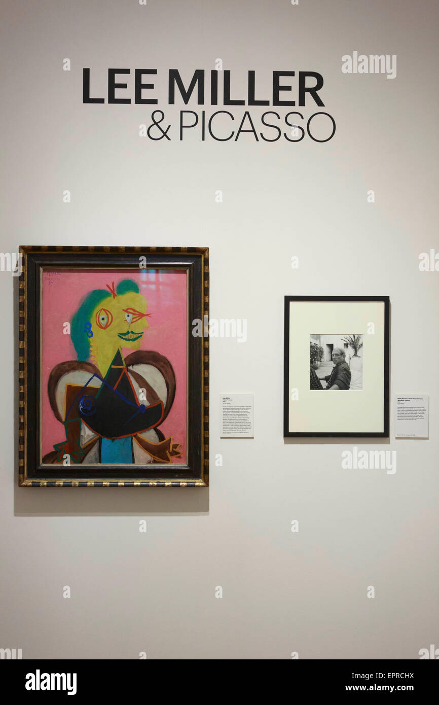 Edinburgh. UK. 21st May, 2015. Lee Miller and Picasso display an exhibition in Scottish National Portrait Gallery - Stock Image