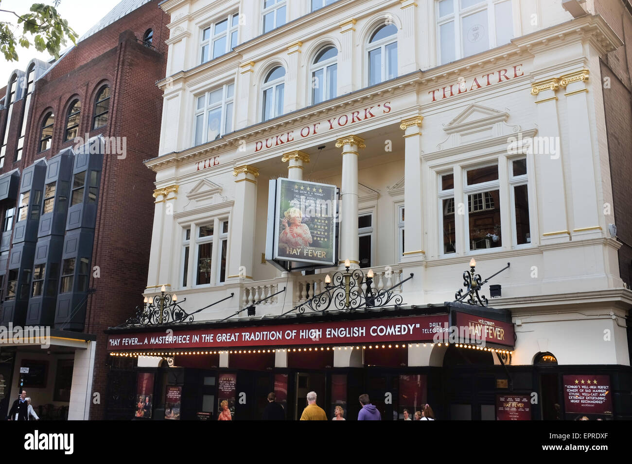 The Duke of York's Theatre in London, England, showing Hay Fever. - Stock Image