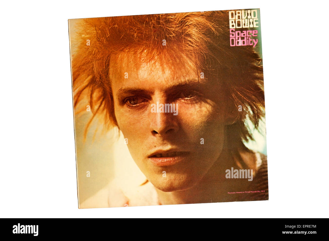 David Bowie or Space Oddity was the second studio album by English musician David Bowie. SEE DESCRIPTION FOR DETAILS. - Stock Image