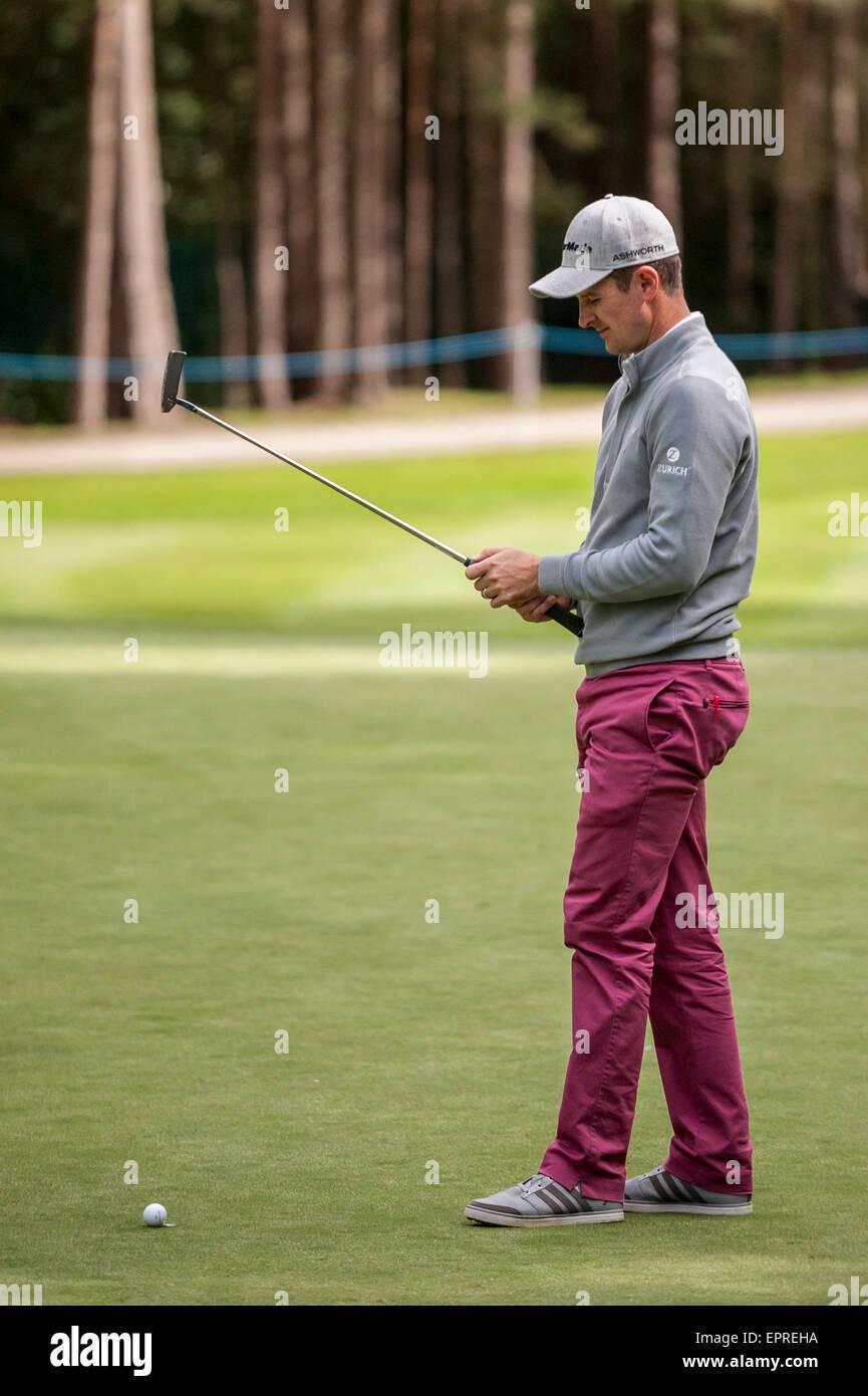 London, UK. 20 May 2015.  Justin Rose (England) during the BMW PGA Championship 2015 Pro-Am at Wentworth club, Surrey. - Stock Image