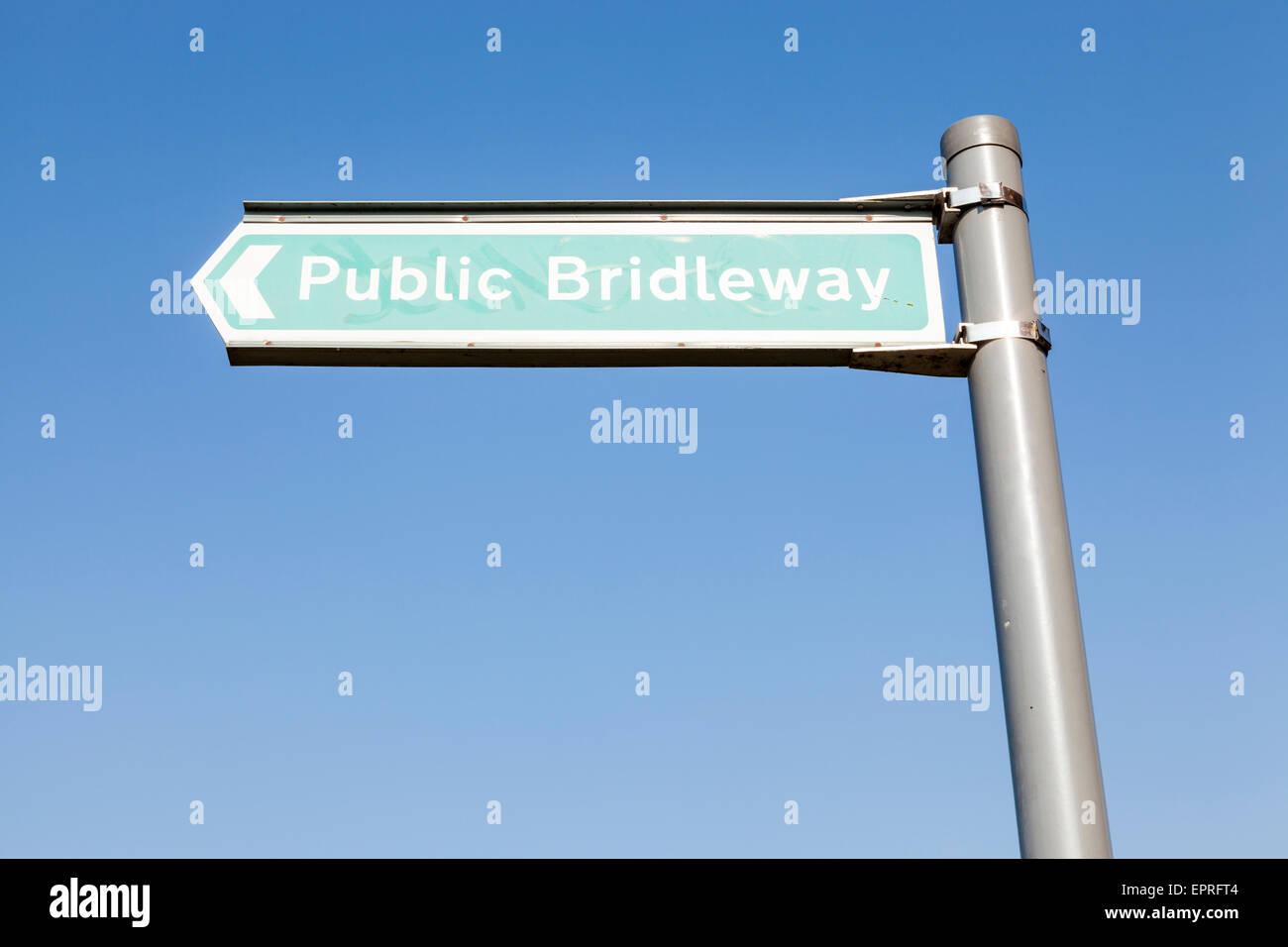 Public bridleway sign, England, UK - Stock Image