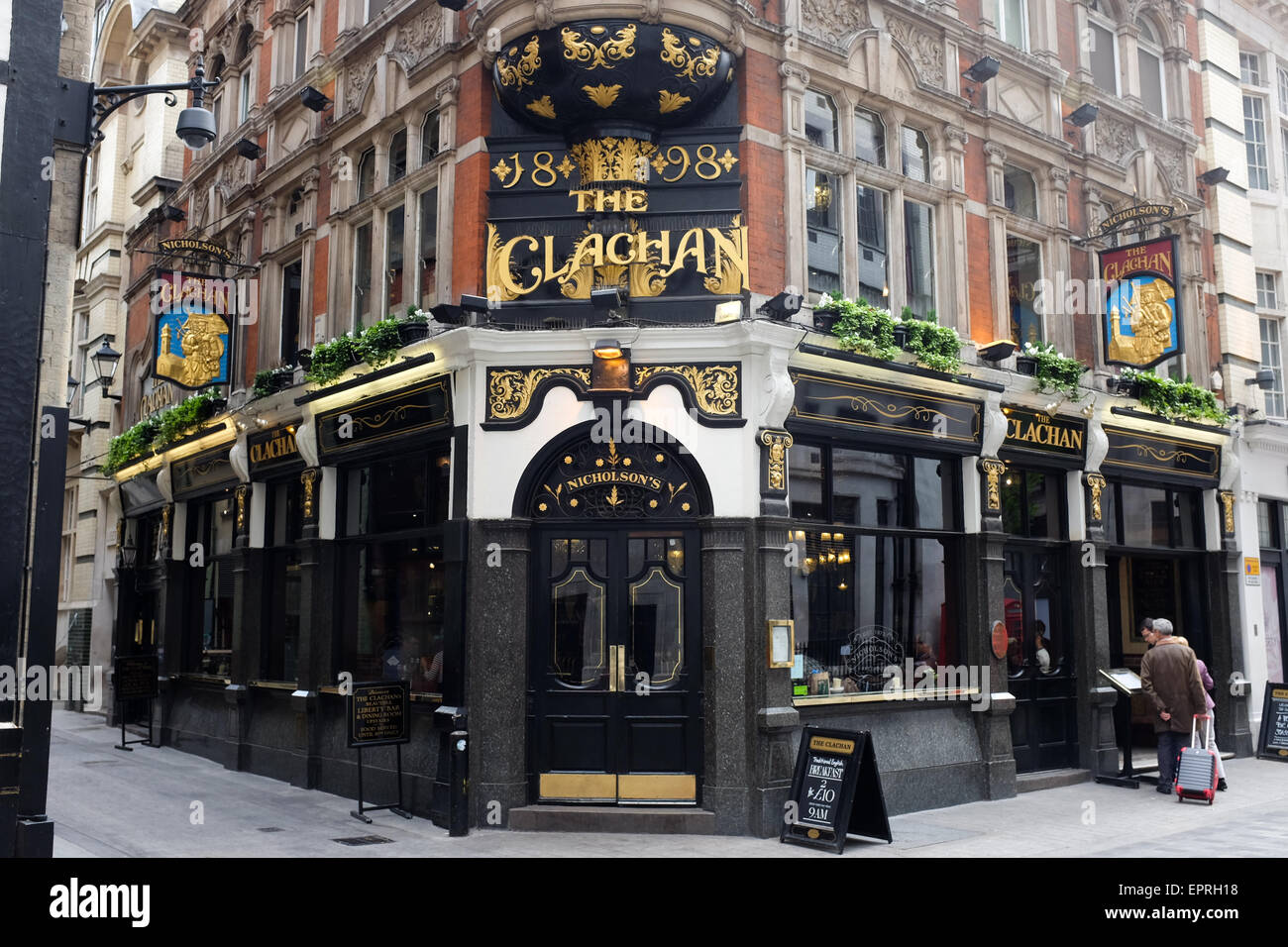 The Clachan pub on Kingly Street in central London, England. - Stock Image