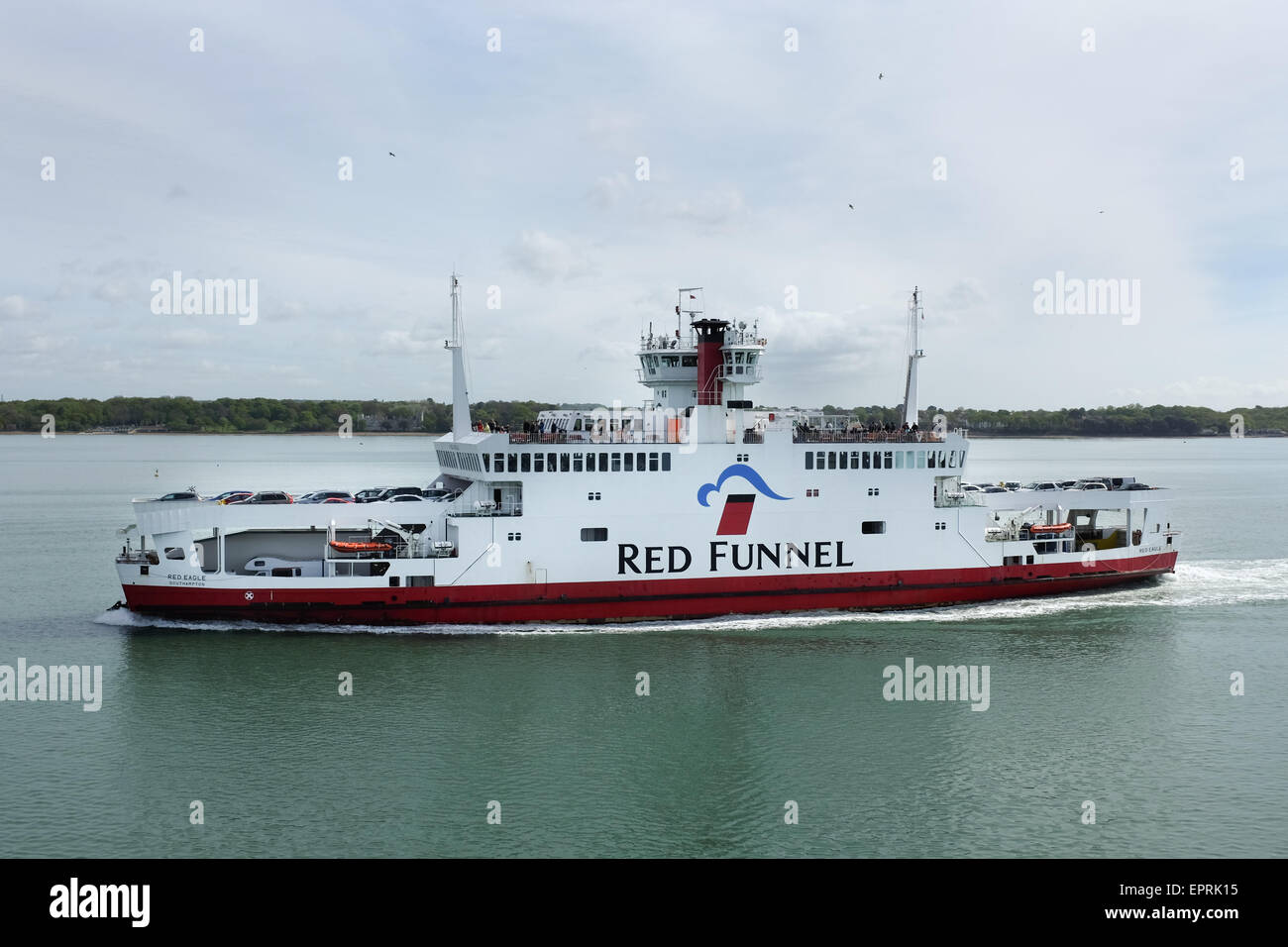 A Red Funnel ferry that sails between Southampton and Cowes on the Isle of Wight, U.K. Stock Photo