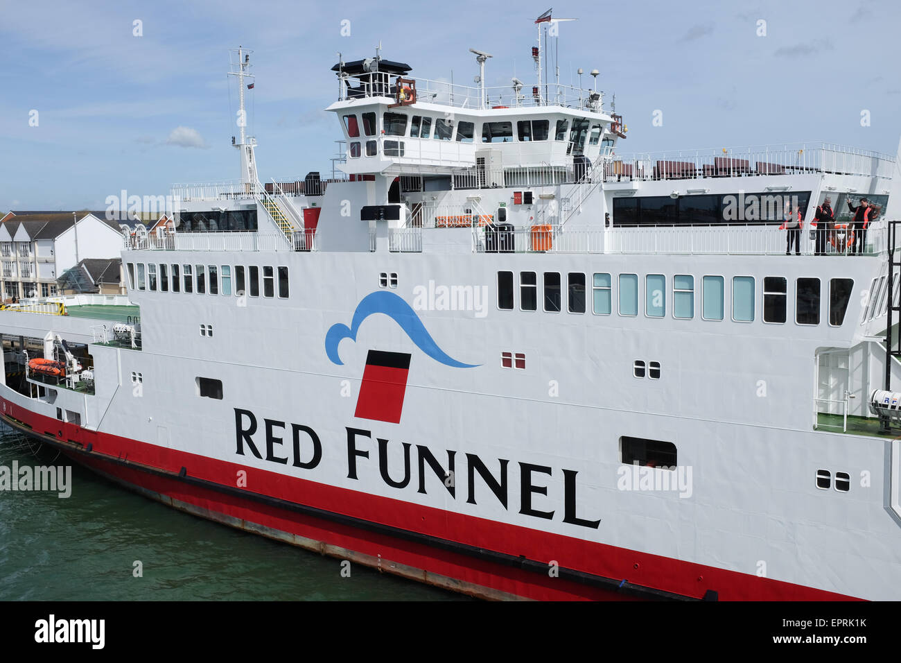 A Red Funnel ferry that sails between Southampton and Cowes on the Isle of Wight, U.K. - Stock Image