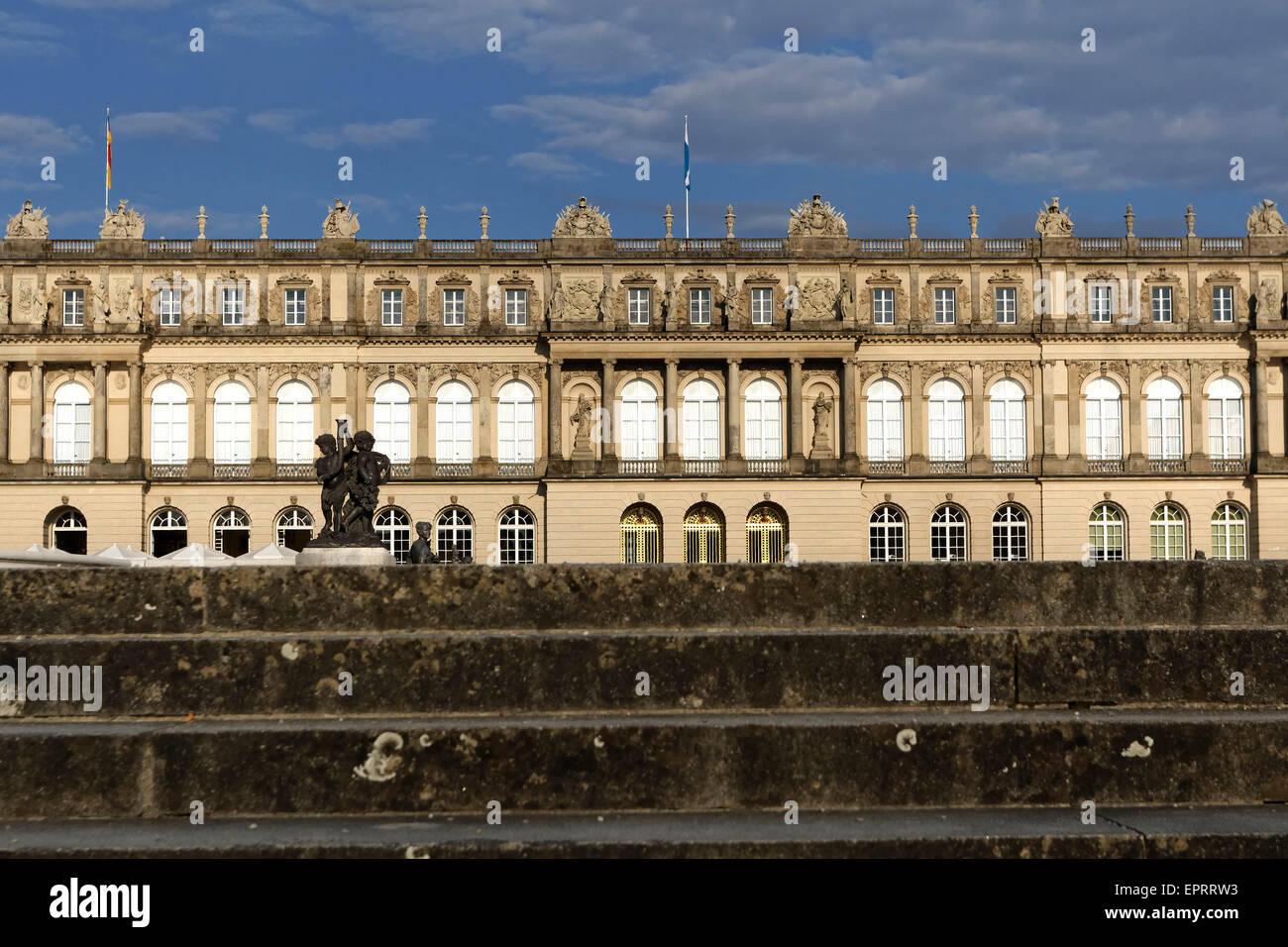 Herrenchiemsee Schloss Palace, Herreninsel, Chiemsee, Chiemgau, Upper Bavaria, Germany - Stock Image