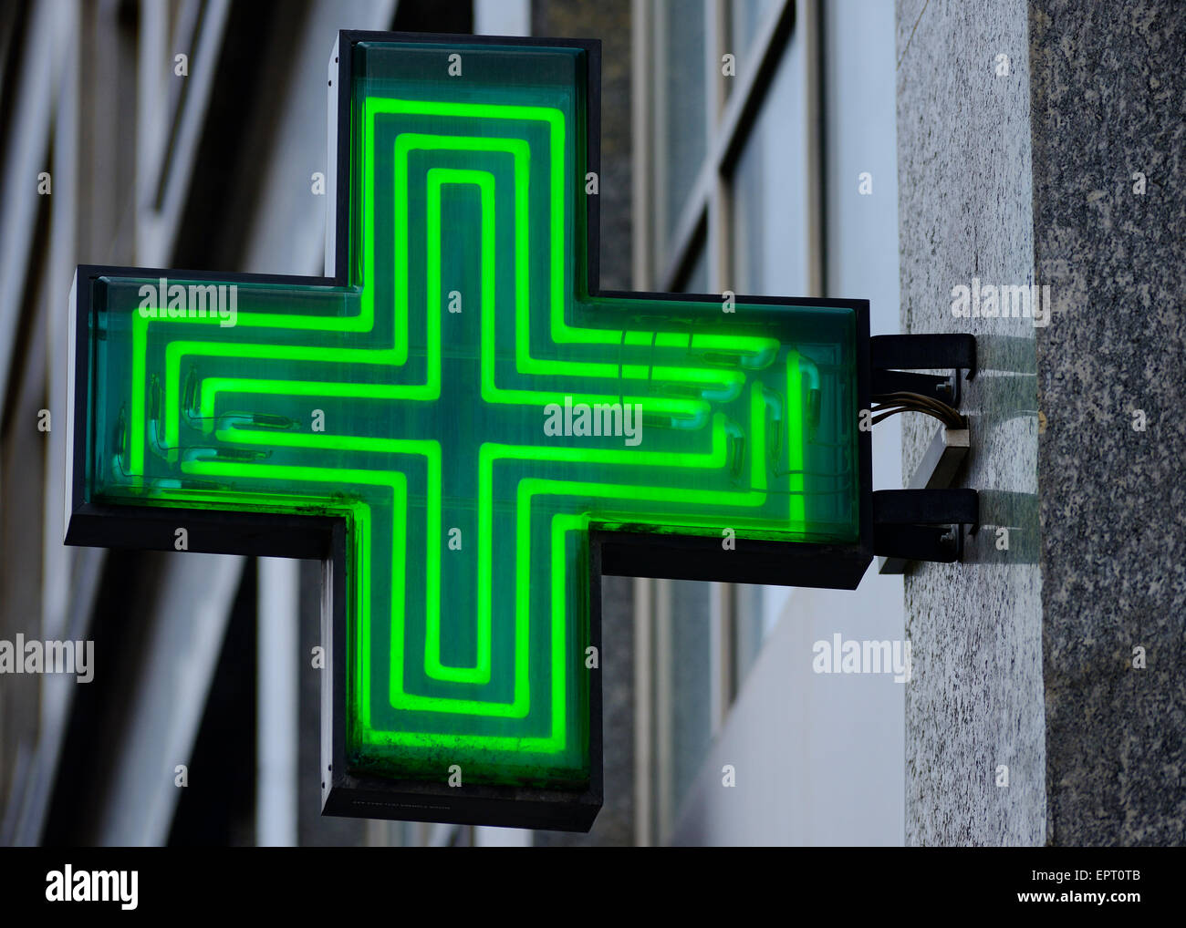 Pharmacy Sign, Croatia. - Stock Image