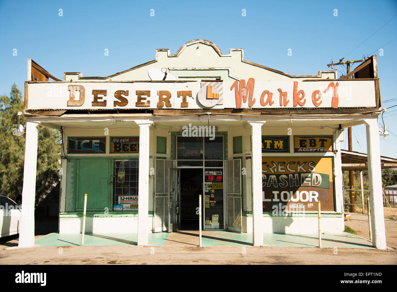General Store in town of Daggett in San Bernadino County California on Route 66 USA Stock Photo