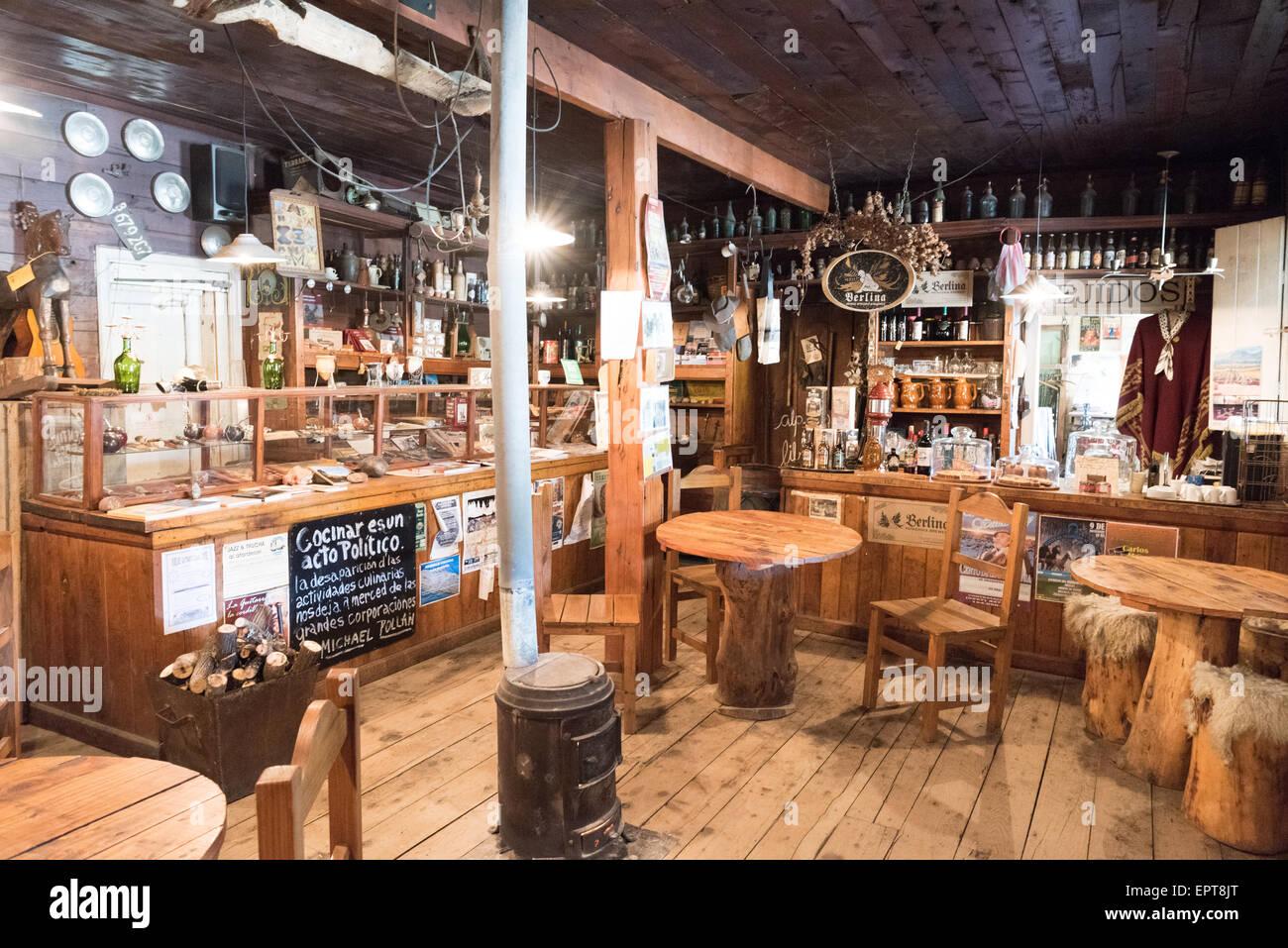 El Viejo Almacen del Foyel - Restaurant and Museum of Mapuche life - on La Ruta 40 near El Bolson, Neuquen Province, - Stock Image
